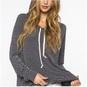 Brandy Melville Thin Striped Layla Hoodie Sweater
